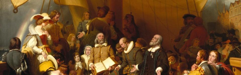 <i>Embarkation of the Pilgrims</i>, Robert Weir, 1843