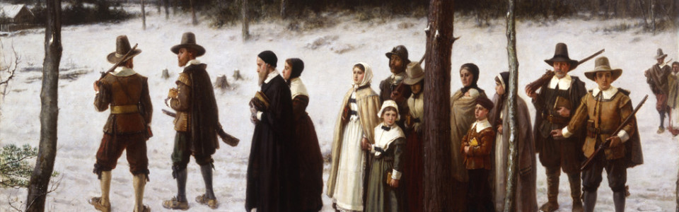 Pilgrims Going to Church by George Henry Boughton, 1867