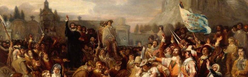 The Signing of the National Covenant in Greyfriars Kirkyard, Edinburgh by William Allan, 1838